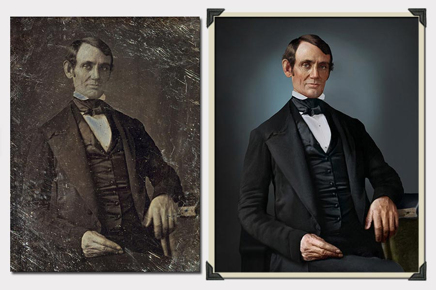 Phojoe Abraham Lincoln in Suit Photo Colorization