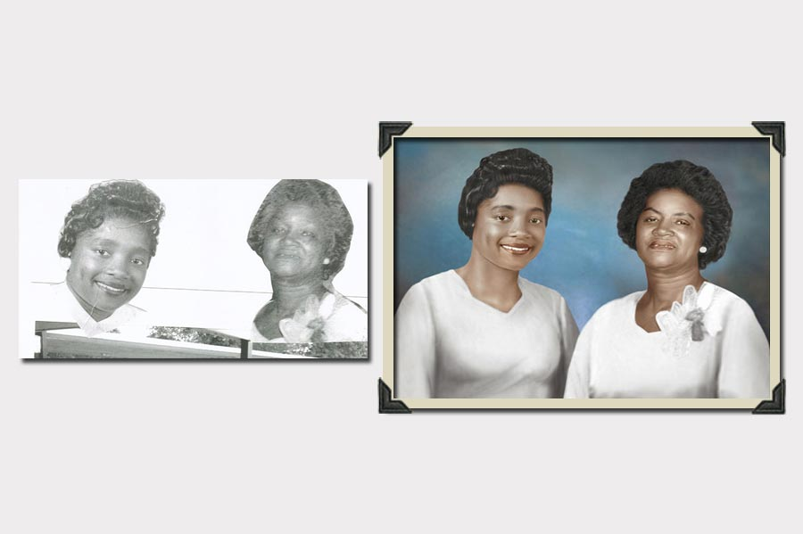 Phojoe Two Sisters Photo Manipulation and Colorize