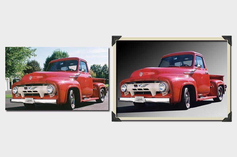 Phojoe Red Truck Background Photo Manipulation