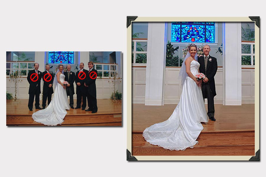 Phojoe Erase People from Wedding Photo Picture Manipulation