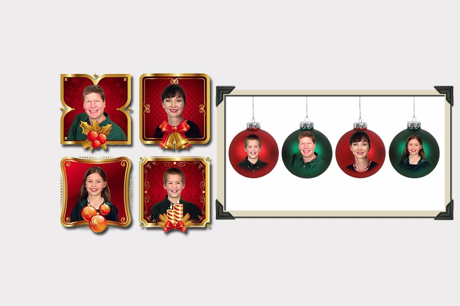 Phojoe People in Christmas Globes Photo Manipulation