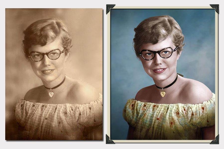 Phojoe Girl With Glasses and Necklace Photo Colorization