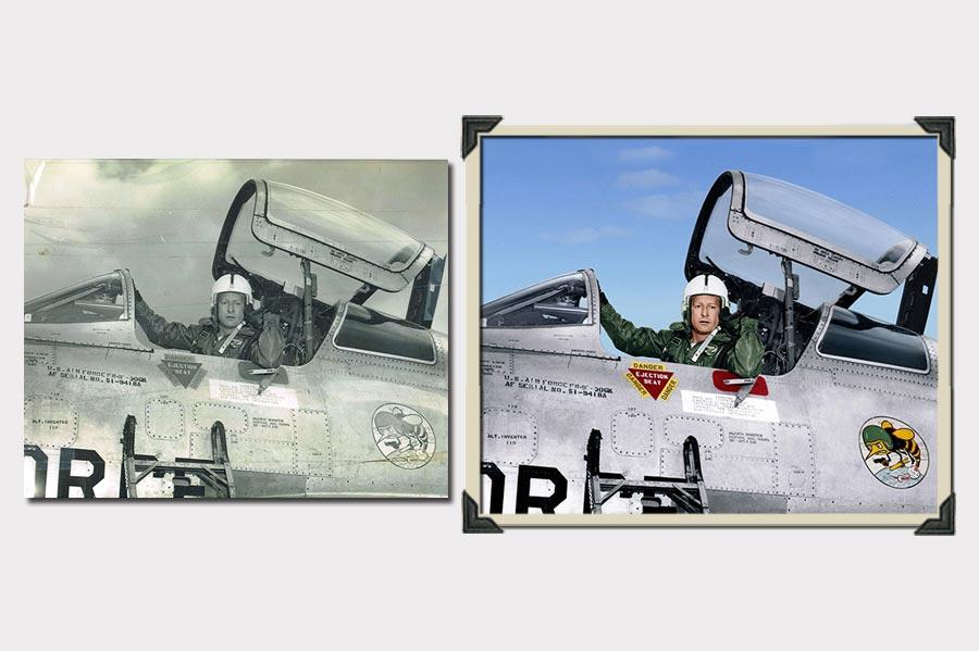 Phojoe Man in a Plane Photo Colorization