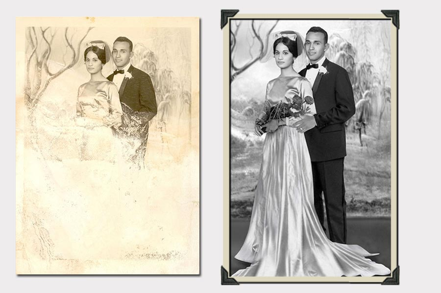 Phojoe Photo Restoration Wedding Before and After