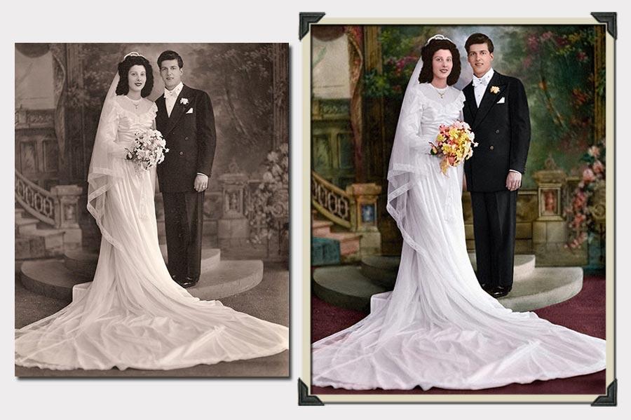 Phojoe Bride and Groom Photo Colorization