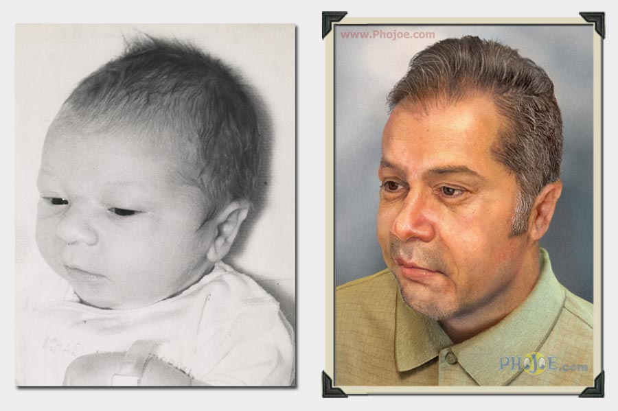 Forensic Age Progression, Enhancement & Compositing Sketch