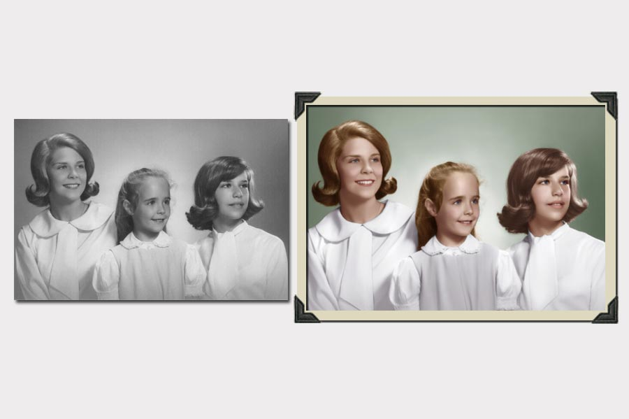 Phojoe Photo Colorization Girls Before and After