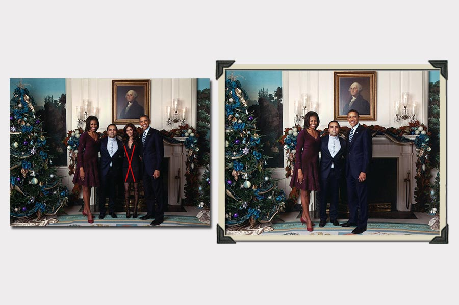 Phojoe Remove Girl From Picture With Obama Photo Manipulation