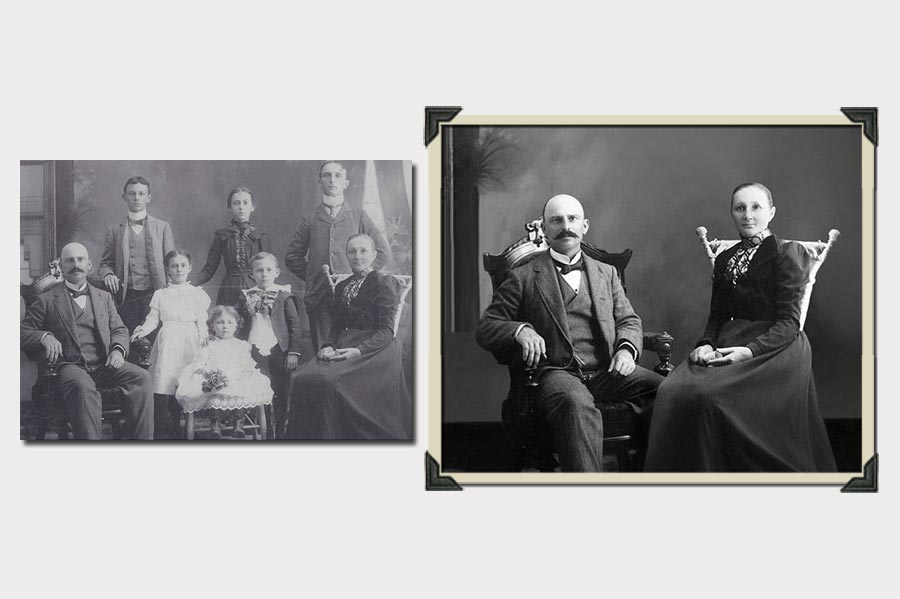 Phojoe Remove People from Family Old Photo Manipulation