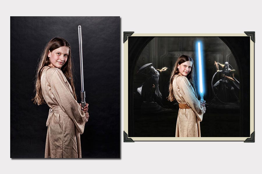Phojoe Star Wars Girl Lightsword Photo Manipulation