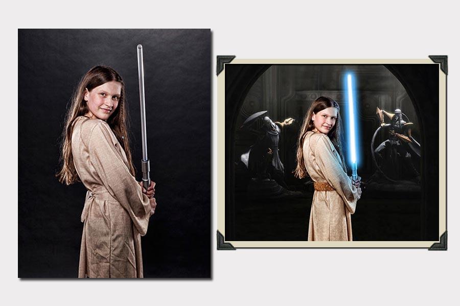 Phojoe Star Wars Girl Lightsword Photo Manipulation