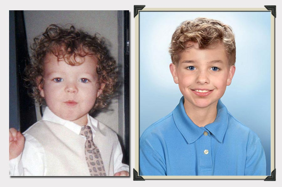 Phojoe Boy With Curls Age Progression
