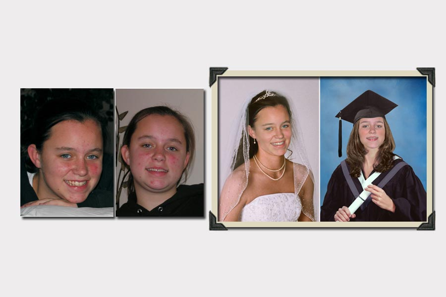 Phojoe Girl Age Progression to Wedding and Graduation
