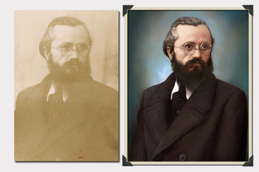 Phojoe Man with Beard and Glasses Photo Colorization