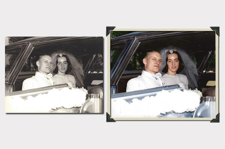 Phojoe Newlyweds phooto Colorization