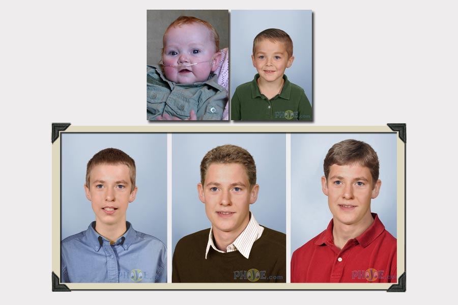 Little Boy Age Progression Multiple Life Stages