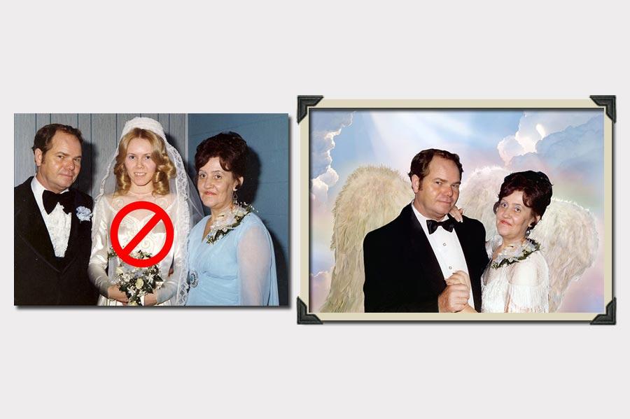 Phojoe Change Person in Wedding Photo Manipulation