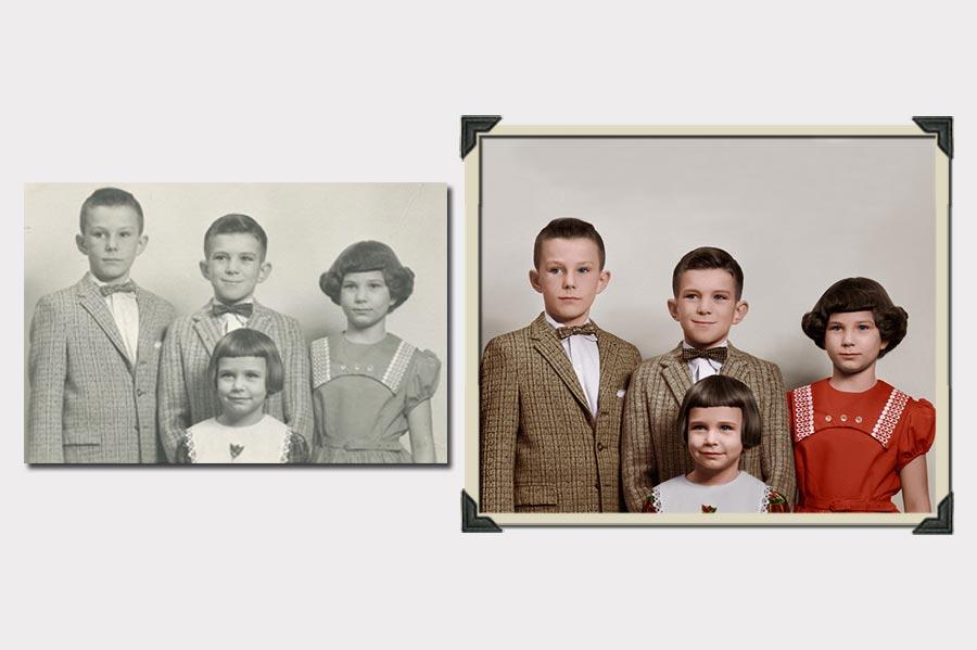 Phojoe Siblings Photo Colorize