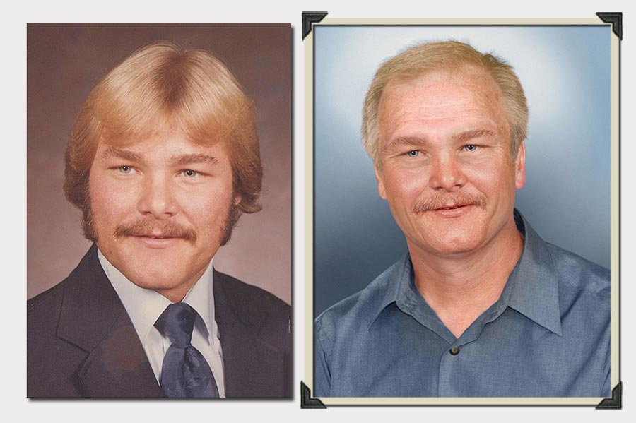 Phojoe Blond Man with Moustache Age Progression