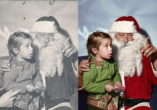 Phojoe Colorize Your Photo Girl and Santa