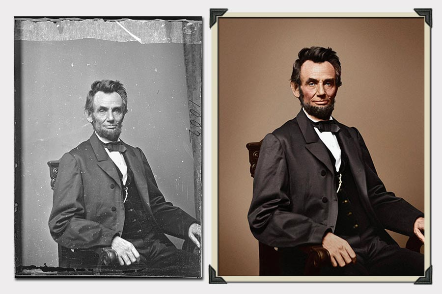 Phojoe Photo Colorization Abraham Lincoln