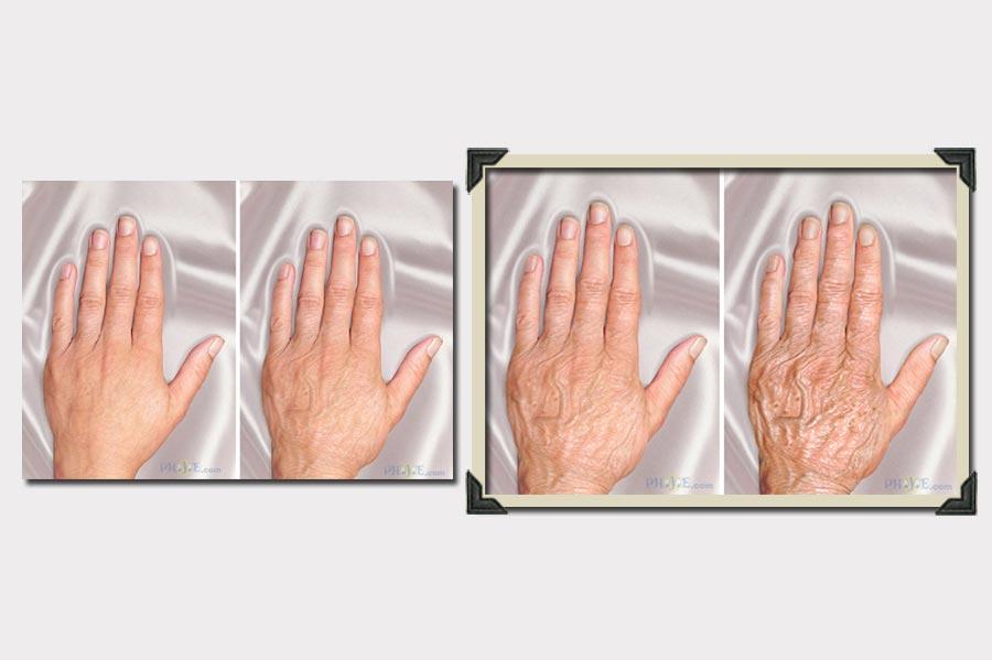 Phojoe Woman's Hand Age Progression