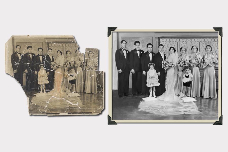 Phojoe Old Destroyed Wedding Photo Restortation