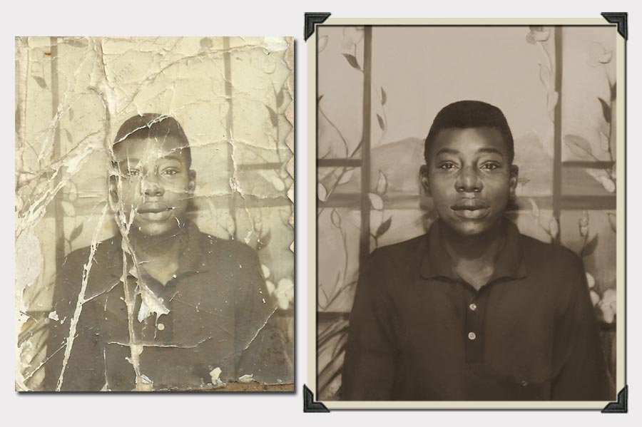 Phojoe Boy Destroyed Photo Restoration
