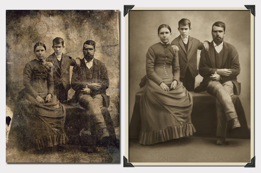 Highest quality Photo Restoration, photograph repair, old