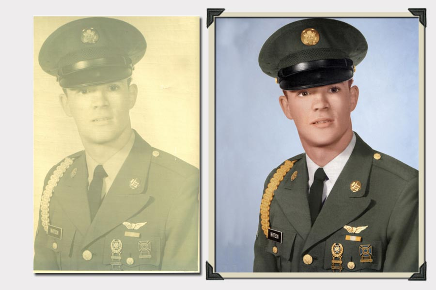 Phojoe Military Equipment Faded Photo Restoration