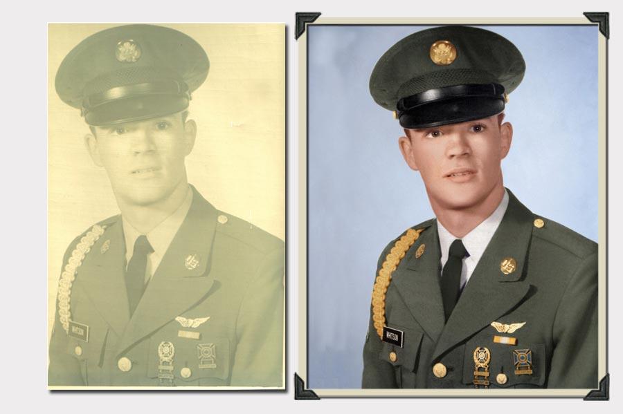 Phojoe Military Equipment Faded Photo Restoration