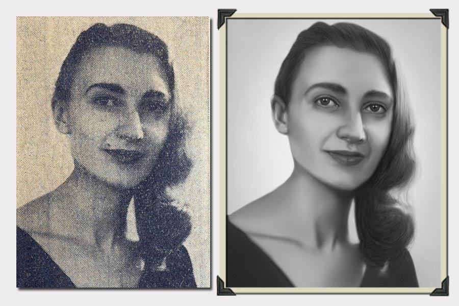 Phojoe Woman Sided Hair Blurry Photo Restoration