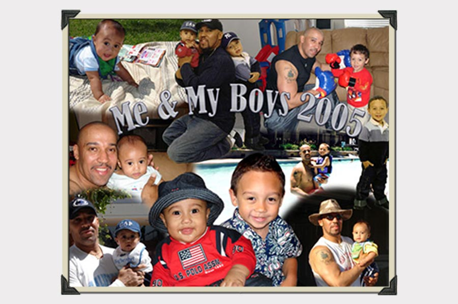 Phojoe Dad and Boys Collage