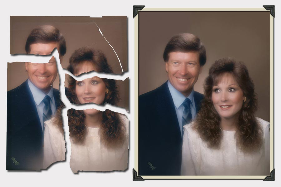 Phojoe Couple Ripped Photo Restoration