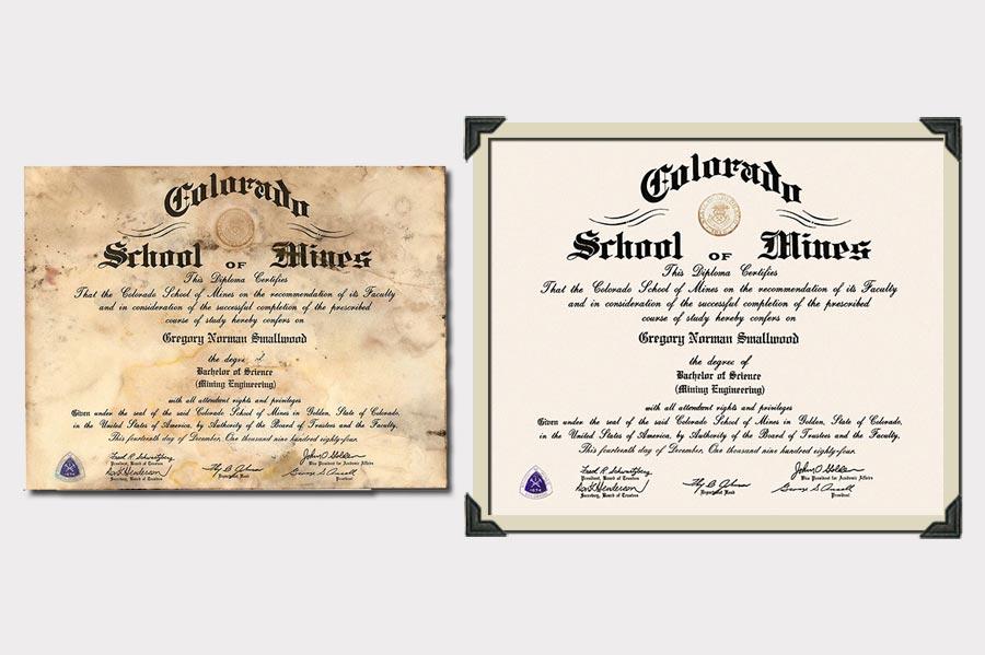 Phojoe School of Mines Document Restoration