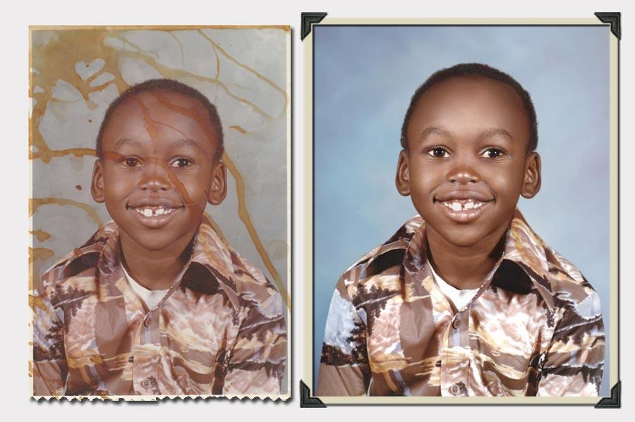 Phojoe Boy with Colorful Shirt Photo Restoration