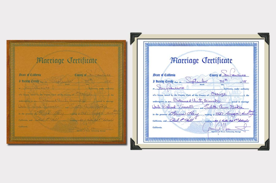 Phojoe Marriage Certificate Restoration