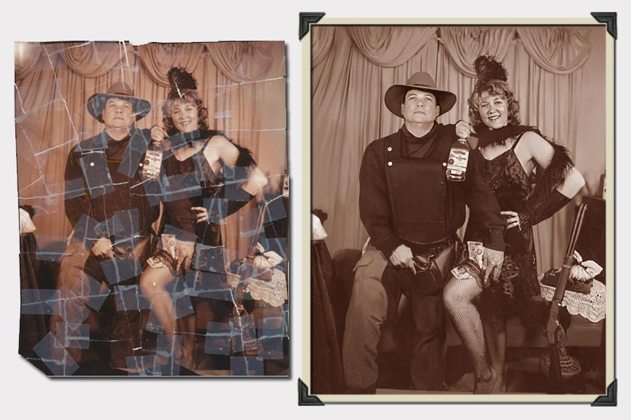 Phojoe Costumed Couple Photo Restoration