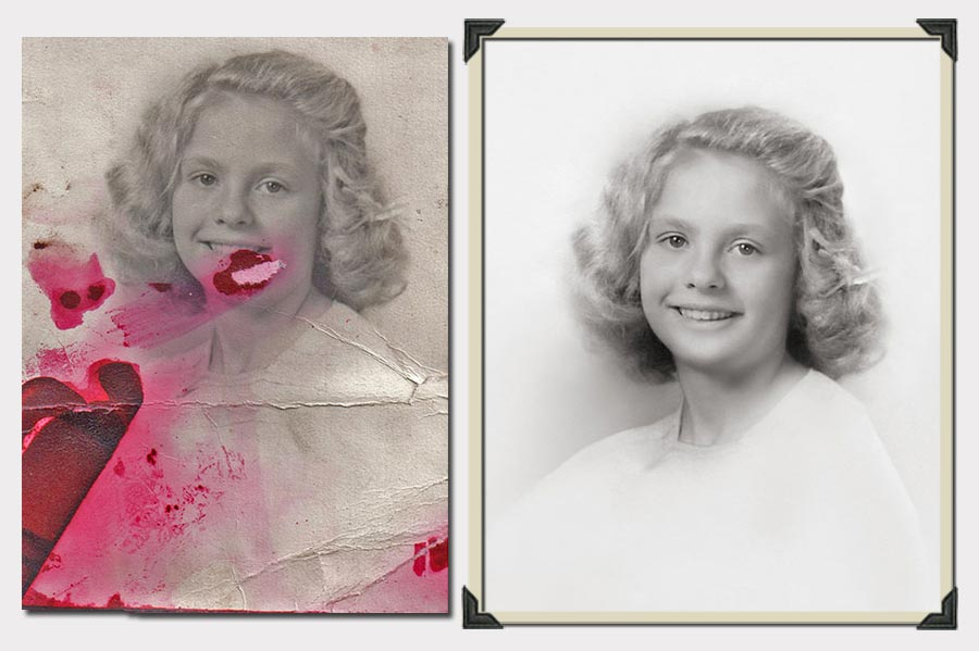 Phojoe Blonde Gilr with Short Hair Photo Restoration