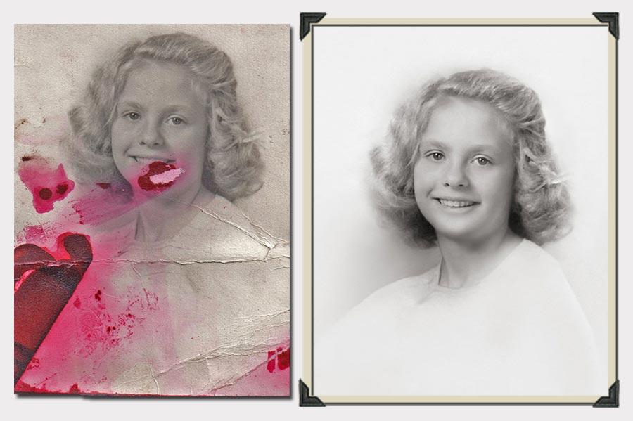 Phojoe Blonde Gilr with Short Hair Photo Restoration