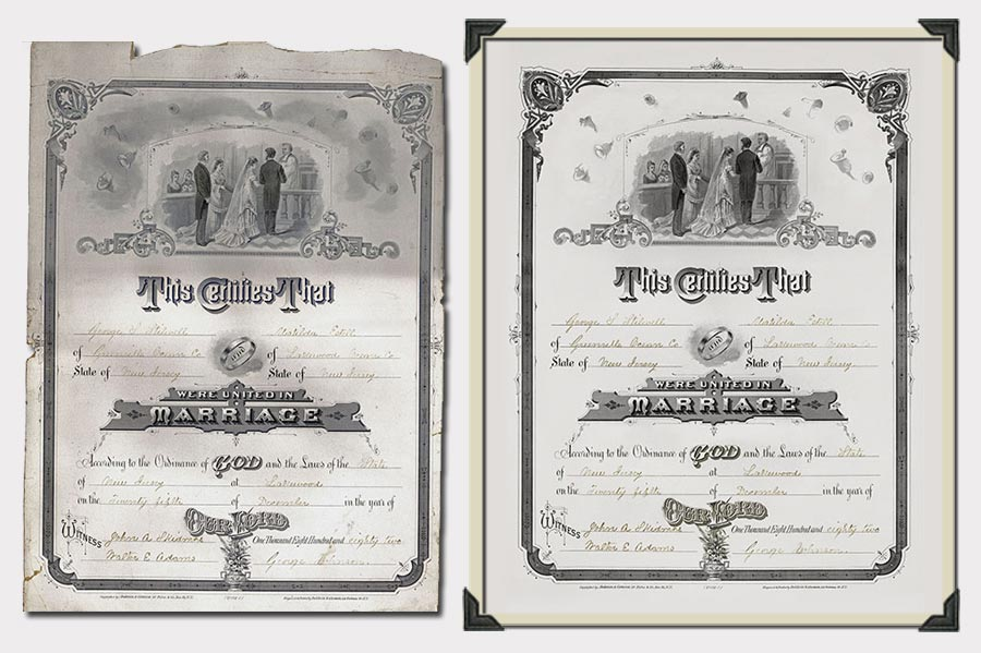 Phojoe Marriage Certificate Restoration 2