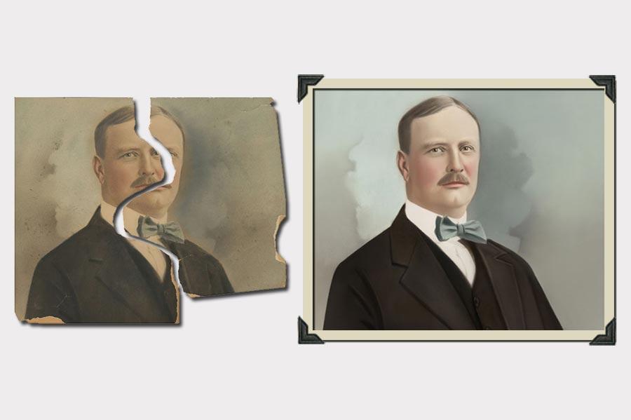 Phojo Man Ripped Photo Restoration