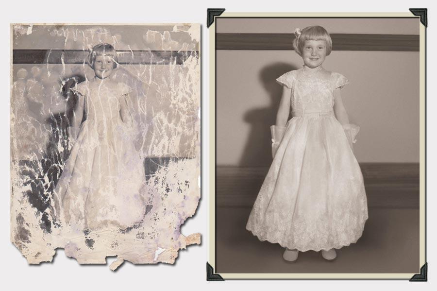 Phojoe Gil in Long Dress Photo Restoration