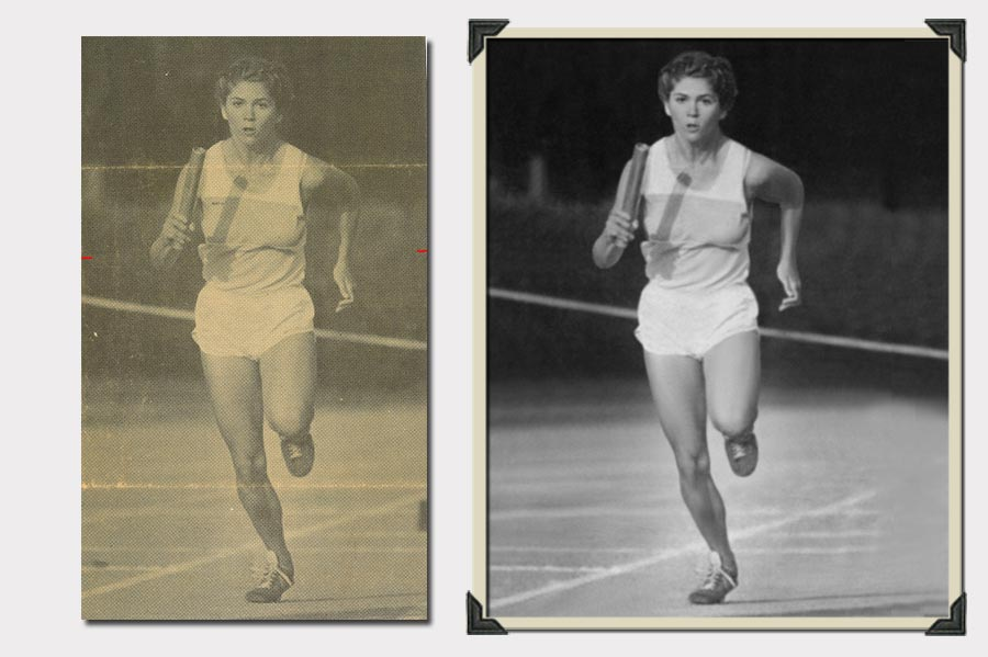 Photo Running Woman Blurry Photo Restoration