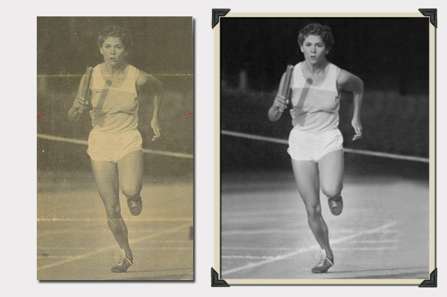 Photo Running Woman Blurry Photo Restoration