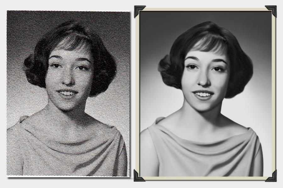 Phojoe Short Hair Woman Blurry Photo Restoration